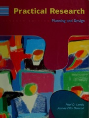 Practical Research Planning And Design Leedy Paul D Free Download Borrow And Streaming