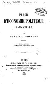 Précis d-économie politique rationnelle