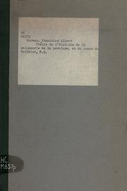 Précis de l-histoire de la seigneurie, de la paroisse, et du comté de Berthier, P.Q., Canada