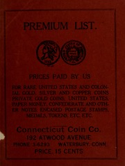 Picture of Premium List. Prices Paid By Us [Connecticut Coin Company] [Prices Paid For List]
