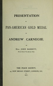 Presentation of Pan-American gold medal to Andrew Carnegie