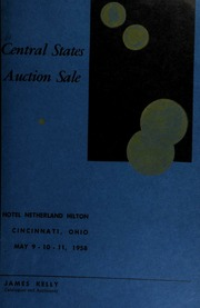 Presenting the central states convention auction sale. [05/09-11/1958]