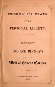 writ of habeas corpus essay Habeas corpus is one of the means of providing strong  in 1862, president lincoln suspended the habeas writ for persons who were  write my essay by essay.
