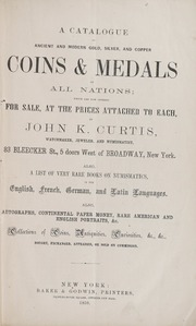 Price Catalogue of Coins, Medals, and Numismatic Works of All Nations