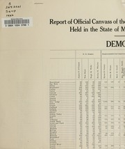 Report of the official canvass of the vote cast at the primary election, 1922