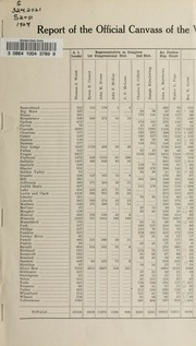 Report of the official canvass of the vote cast at the primary election, 1924