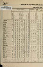 Report of the official canvass of the vote cast at the primary election, 1934