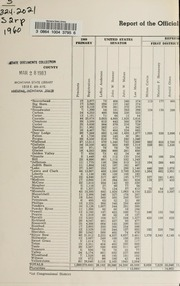 Report of the official canvass of the vote cast at the primary election, 1960