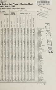 Report of the official canvass of the vote cast at the primary election, 1962