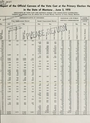 Report of the official canvass of the vote cast at the primary election, 1970