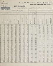 Report of the official canvass of the vote cast at the primary election, 1976