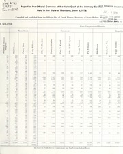 Report of the official canvass of the vote cast at the primary election, 1978