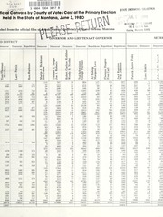 Report of the official canvass of the vote cast at the primary election, 1980