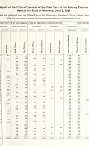Report of the official canvass of the vote cast at the primary election, 1986