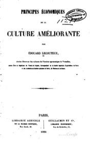 Principes économiques de la culture améliorante