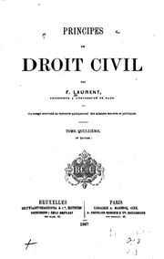 Vol 15: Principes de droit civil français