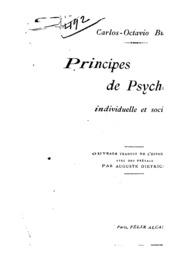 Principes de psychologie individuelle et sociale