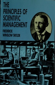 14 principles of scientific management by frederick taylor pdf