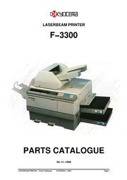 kyocera f 3300 laser beam printer parts catalogue