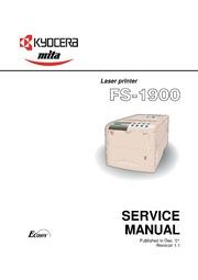 kyocera mita fs 1900 laser printer service manual