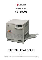 kyocera fs 5800c page printer parts catalogue