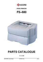 kyocera fs 680 page printer parts catalogue