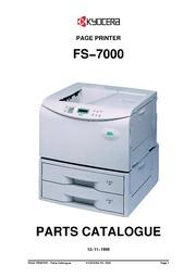 kyocera fs 7000 page printer parts catalogue
