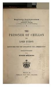 Vol no. 1: The Prisoner of Chillon