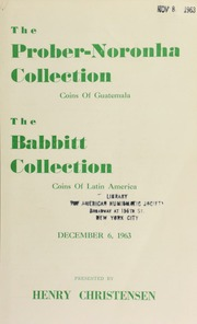 The Prober-Noronha collection ... : the Babbitt collection ... [12/06/1963]