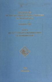Proceedings of the 10th International Congress of Numismatics = Actes du 10ème Congrès International de Numismatique : London, September 1986 / edited by I.A. Carradice ; with P. Attwood ... [et al. ].