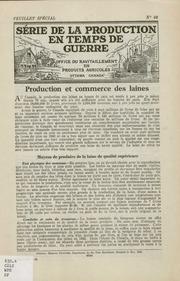 Vol 68: Production et commerce dans laines.