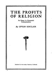 the profits of religion an essay in economic interpretation  the profits of religion an essay in economic interpretation