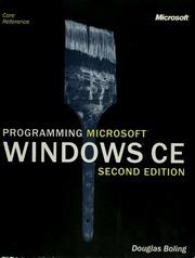 Programming Microsoft Windows Ce Douglas Boling Pdf