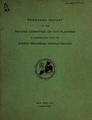 Progress report. A prelimin...