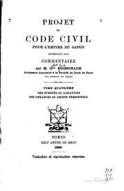 Projet de code civil pour l-empire du Japon