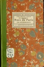 Vol 02: Promenades dans toutes les rues de Paris