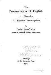 The pronunciation of English: : Jones, Daniel  [from old
