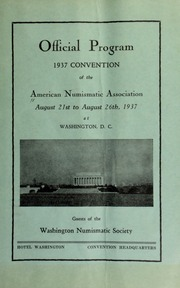 Proposed Revision of Constitution and By-Laws of the American Numismatic Association : for consideration at the annual convention to be held at Washington D.C., August 21 to 26, 1937.