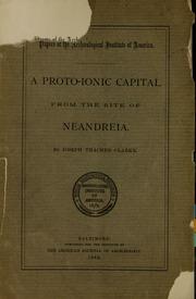 A proto-Ionic capital from the site of Neandreia : Clarke, Joseph