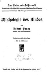 Psychologie des Kindes