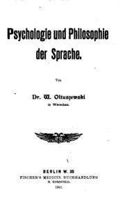 Psychologie und Philosophie der Sprache