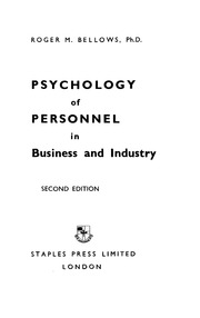 industrial and personnel psychology Industrial and organizational psychologists study and assess individual, group and organizational dynamics in the workplace they apply that research to identify solutions to problems that.