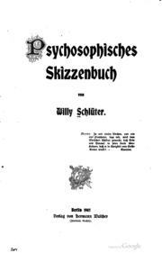 Psychosophisches skizzenbuch