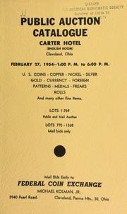 Public auction catalogue ... : U.S. coins ... [02/27/1954]
