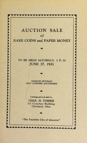Public auction sale of rare coins and paper money ... [06/27/1931]