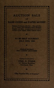 Public auction sale of rare coins and paper money. [07/19/1930]