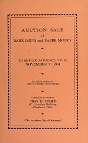 Public auction sale of rare coins and paper money. [11/07/1931]