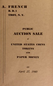 Public auction sale of United States coins, tokens and paper money. [04/27/1940]