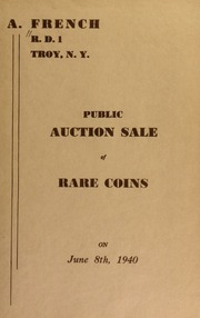 Public auction sale of rare coins. [06/08/1940]