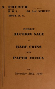 Public auction sale of rare coins and paper money. [11/30/1940]